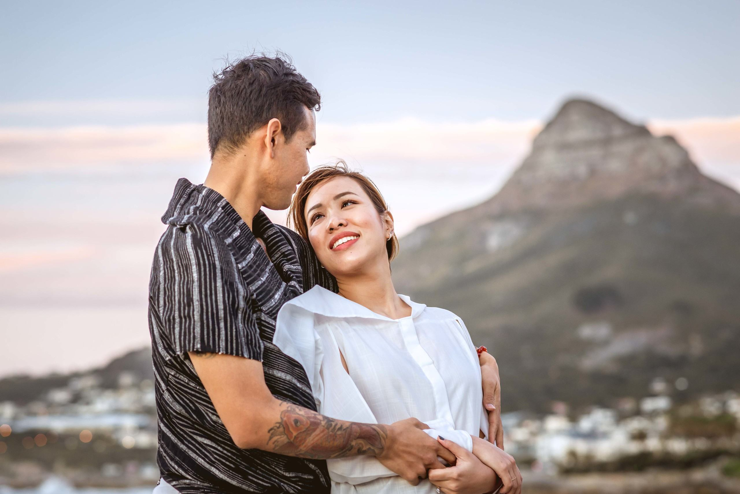 Cape Town couple Vacation photo shoot